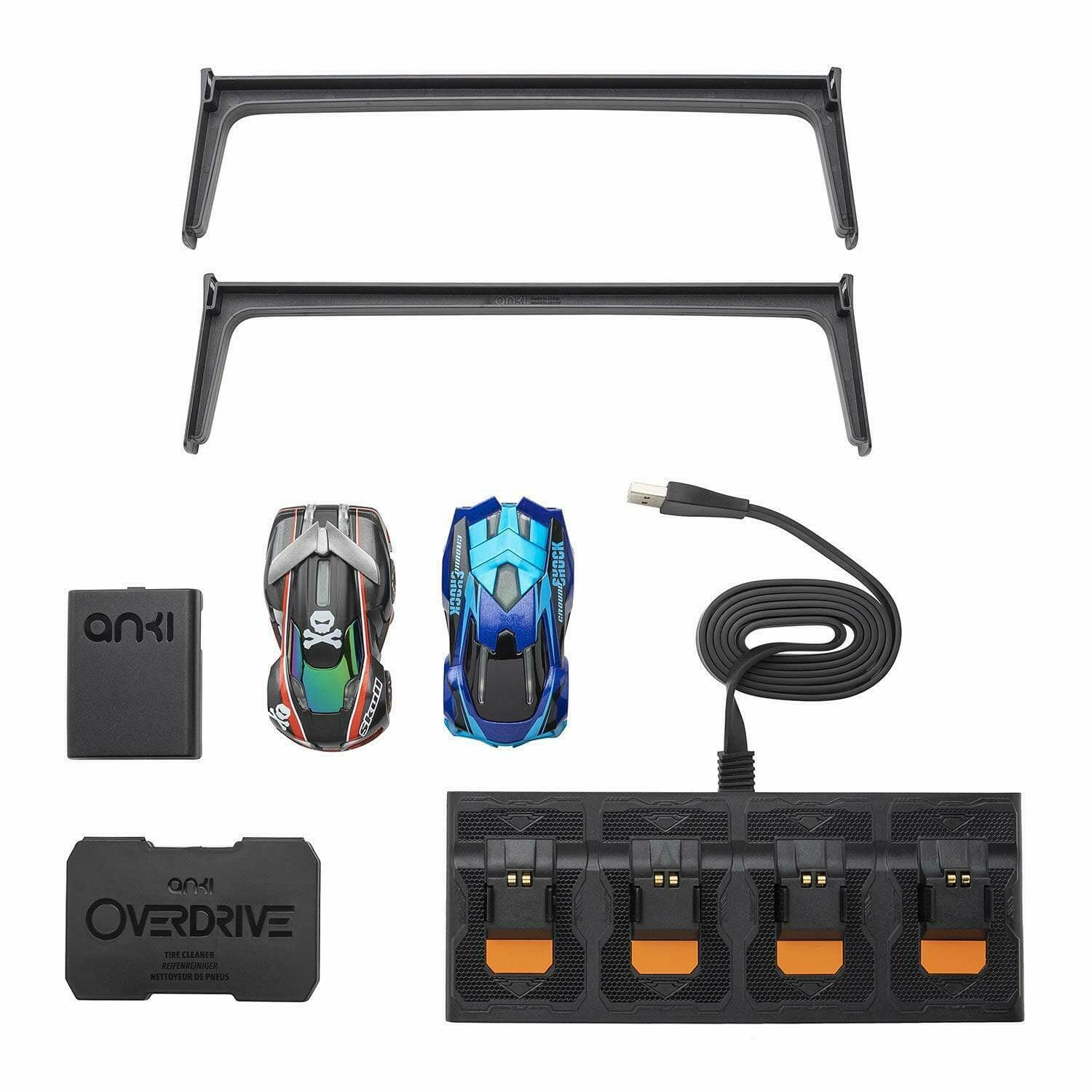 Anki Overdrive Starter Kit Includes 2 Racing Cars Charger Platform Tire Cleaner $20