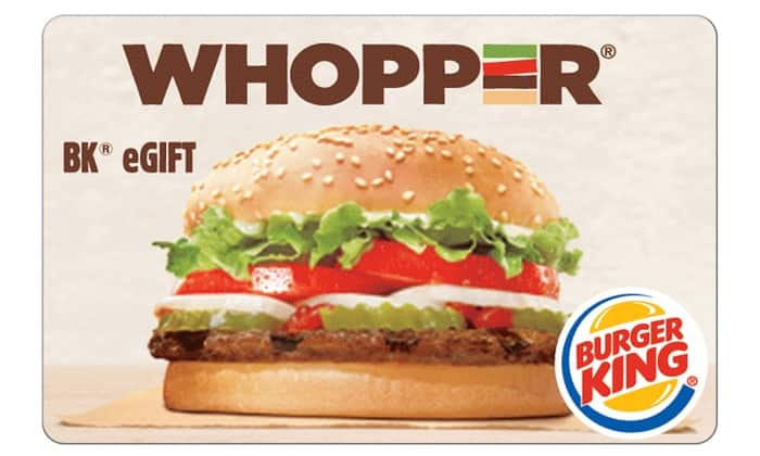 Groupon Burger King eGiftCard - $5 for $10 value - Invite Only YMMV