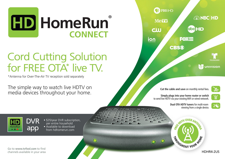 HDHomeRun CONNECT (P/N: HDHR4-2US-R) Refurbished $35.88