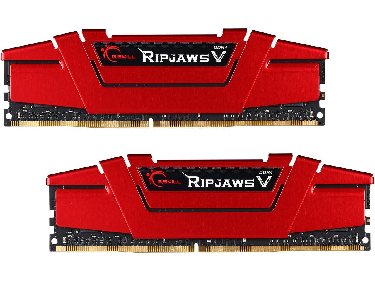 G.Skill Ripjaws V Series 32GB (2x16GB) DDR4 3200 (red) desktop memory for $129.99 + free shipping