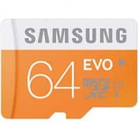 Amazon Deal: Samsung 64GB EVO Class 10 microSD Card with Adapter $36.17
