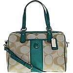 Coach Women's Signature Stripe Satchel Evening $185.95 + fs @areatrend.com