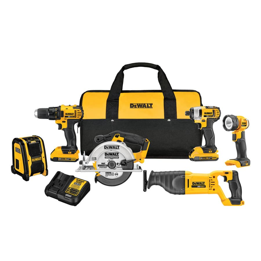 DEWALT 6-Tool 20-Volt Max Lithium Ion (Li-ion) Cordless Combo Kit with Soft Case $349 or $309 with coupon