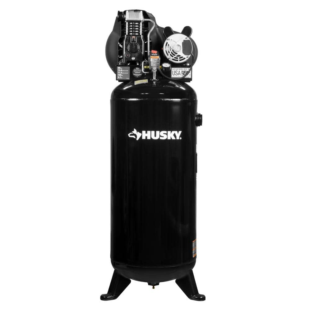 Husky 60 Gallon stationary 155 psi air compressor YMMV - Home Depot Reg.$559 now $280.