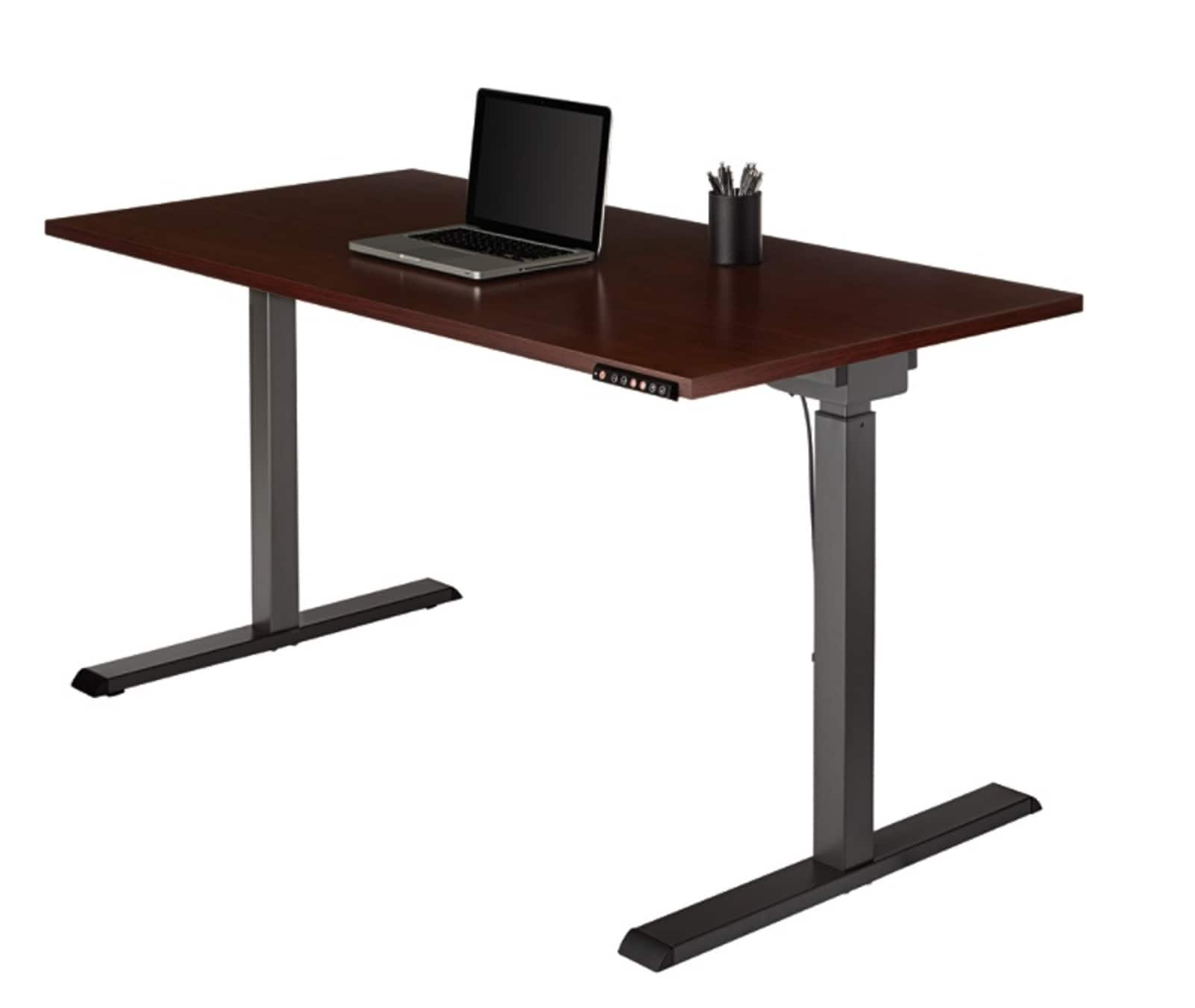 Realspace Magellan Pneumatic ELECTRIC Stand Up Height-Adjustable Desk (Cherry) $280 w/ Email Code + Store Pickup