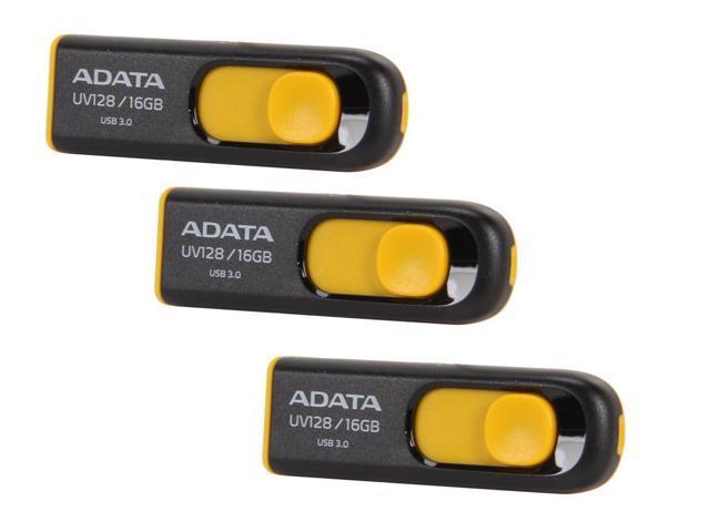3 x ADATA 16GB UV128 USB 3.0 Flash Drive (AUV128-16G-RBY) $8.99