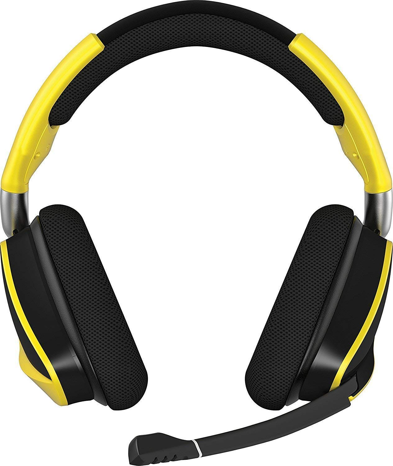 (refurb) CORSAIR Void PRO RGB Wireless Gaming Headset - Dolby 7.1 Surround Sound Headphones for PC - Discord - 50mm Drivers - Yellow (Renewed) $50