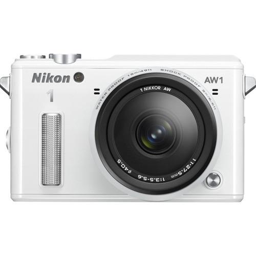 Nikon Refurbished 1 AW1 14.2MP Waterproof Mirrorless Camera w/ 11-27.5mm Lens (White) $250