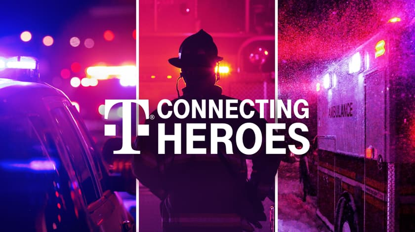 T-Mobile free unlimited service for first responder agencies.