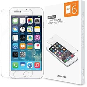 Uppercase iPhone 6S or 6S Plus Tempered Glass Screen Protector - $1.95 A/C + FS W/ Prime