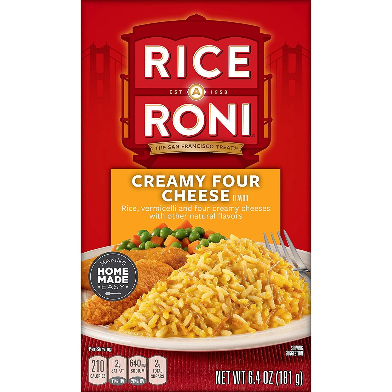 12-Ct. 6.4 oz. Boxes Rice-a-Roni Creamy Four Cheese $9.60 at Amazon