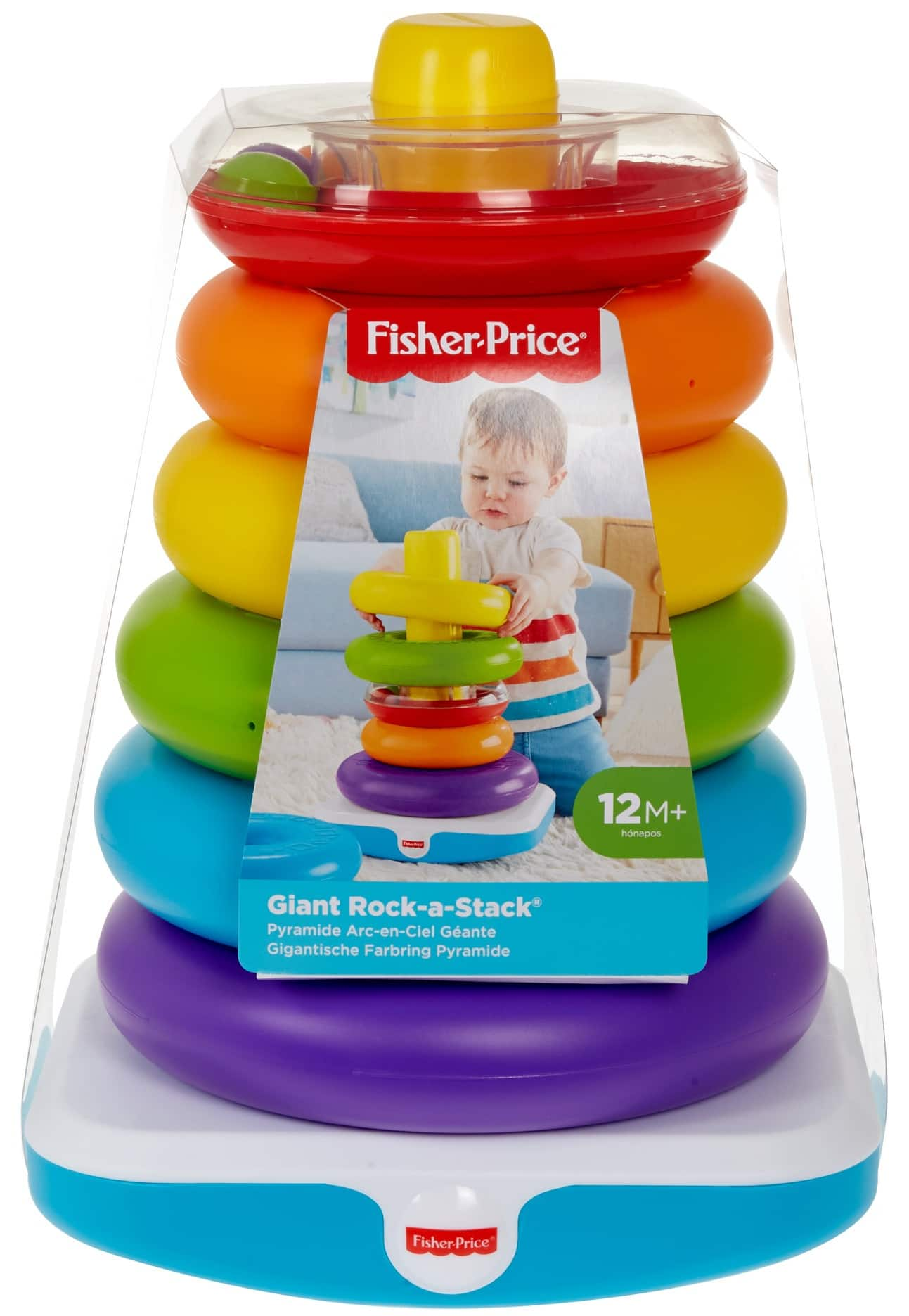 Fisher-Price Giant Rock-a-Stack w/ 6-Colorful Rings $10 at Walmart