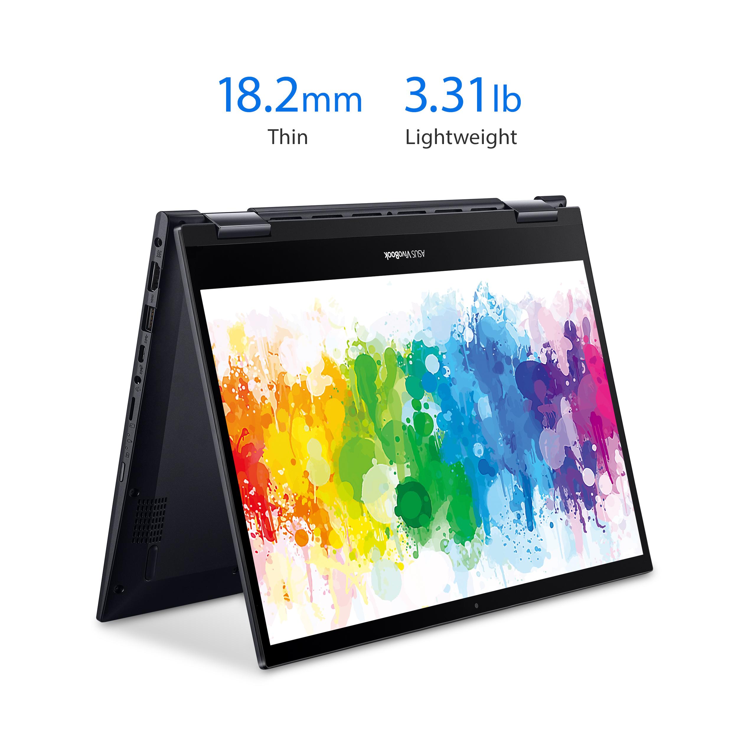 "ASUS Vivobook Flip 2-in-1 Laptop: Ryzen 5 5500U, 14"" IPS, 8GB DDR4, 256GB SSD"