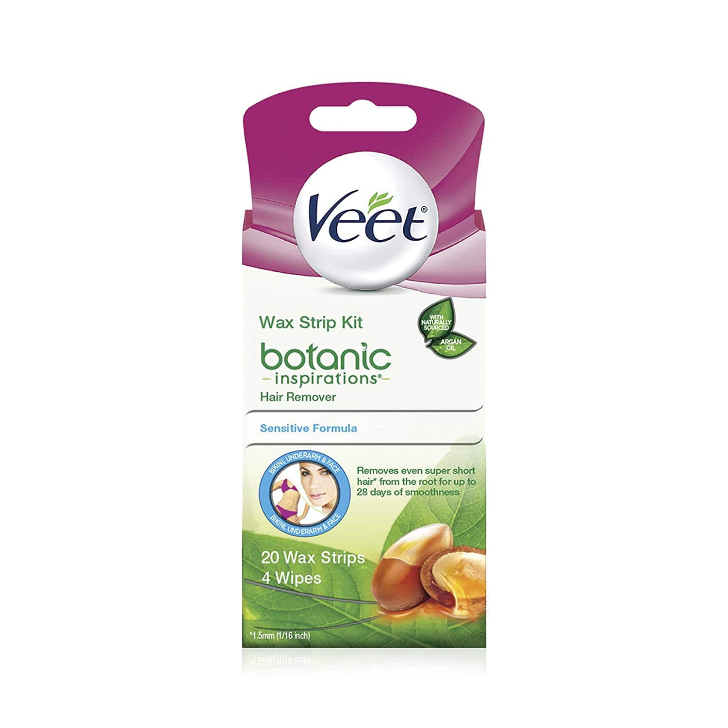 20 Ct. Veet Body, Bikini and Face Hair Remover Wax Kit $4.90 & More