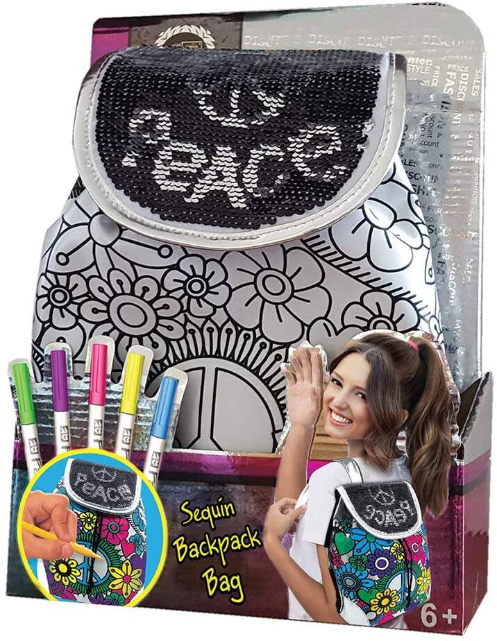 DIY Personalize Paintable Reversible Sequins Backpack for Girls $10.67 at Amazon
