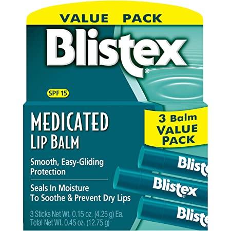 3-Pack 0.15oz Blistex Medicated SPF 15 Lip Balm $2.05 w/s&s