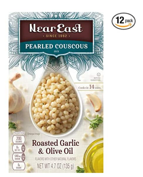 12 Pk. Near East Oil Pearled Couscous, Roasted Garlic & Olive Oil $2.55 (YMMV Coup) or $3.03 at Amazon