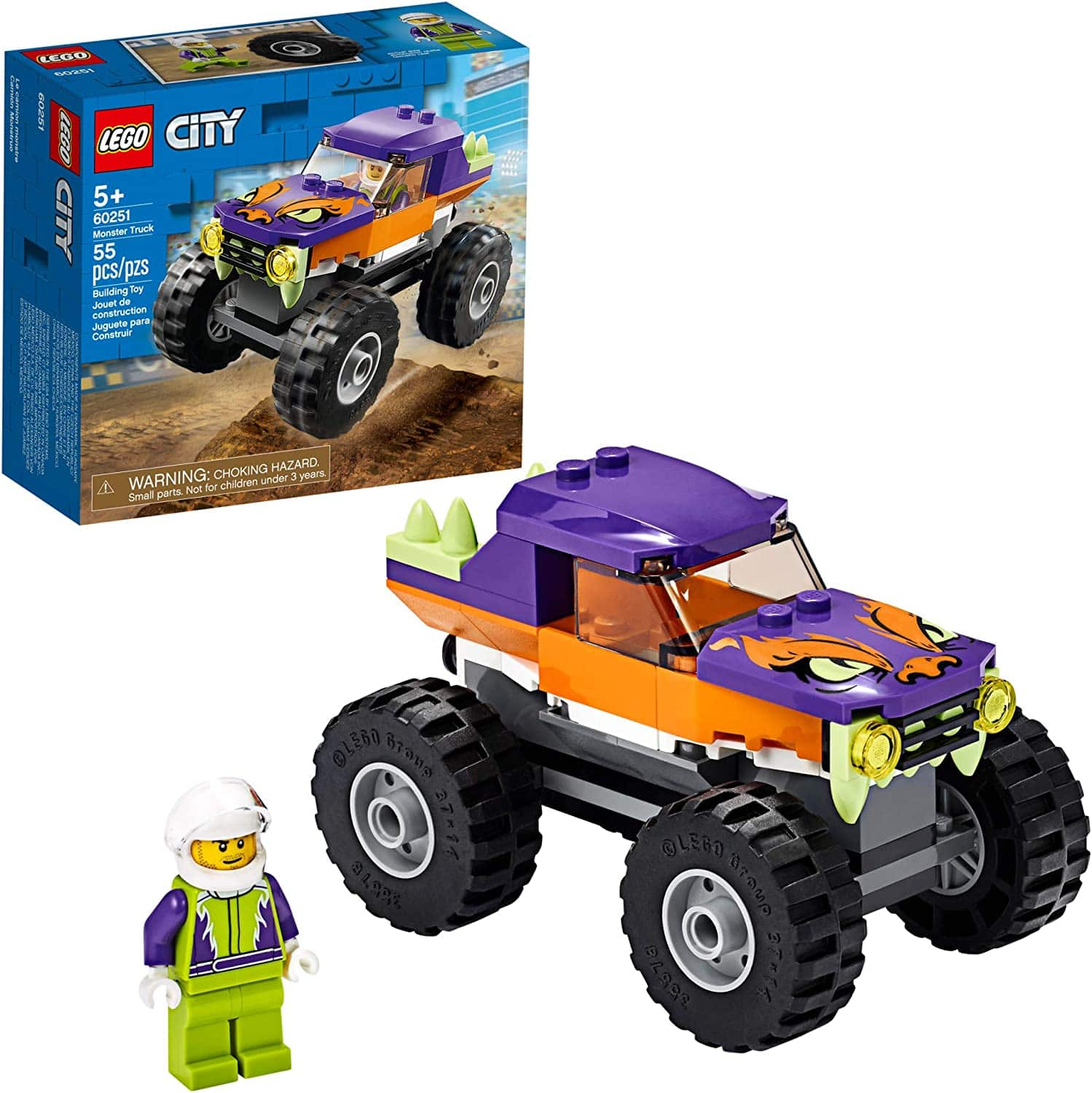 55-Piece LEGO City Monster Truck Building Set $8 at Amazon