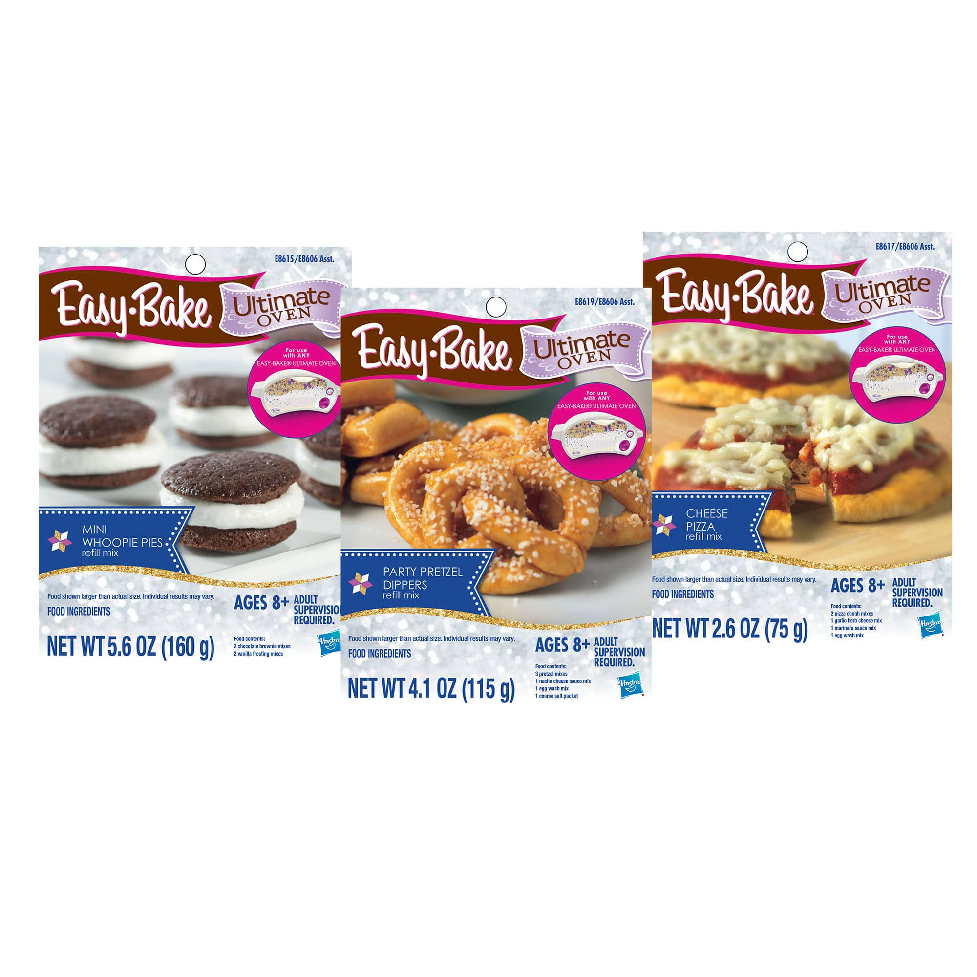 3-Pk. Easy Bake Refill: Pizza, Pretzel, and Whoopie Pie Mix $8.10 at Walmart