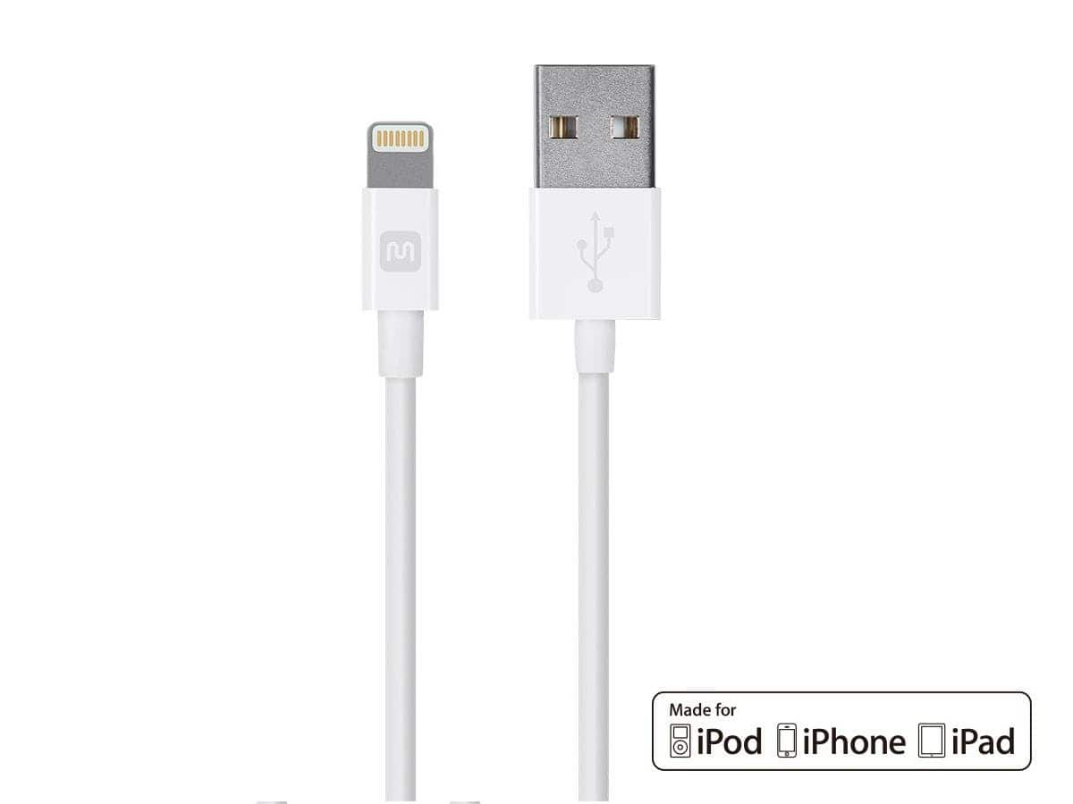 3' Monoprice Select Series Apple MFi Certified Lightning USB Cable 4 for $15 + Free Shipping