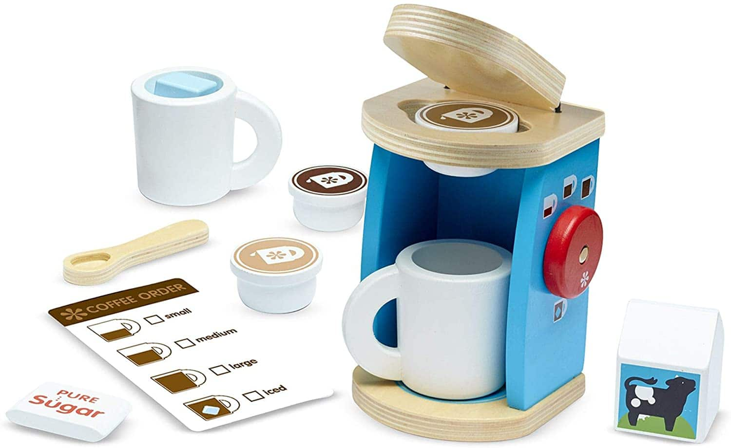 11 pce. Melissa & Doug Brew and Serve Wooden Coffee Maker Set $12.91 at Amazon