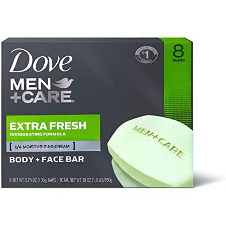 14-Count 3.75-Oz Dove Men+Care Body and Face Bars (Extra Fresh) $9.50 w/ Subscribe & Save