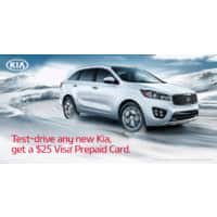 Deal: FREE $25 Visa GC - Test Drive New KIA (First 10,000) *Test Drive By 3/31/15