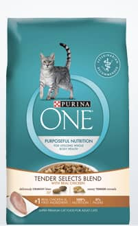 Free Purina One Tender Selects Blend Dry Cat Food