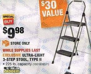 Home Depot Black Friday Gorilla Ladders Ultra Light 3