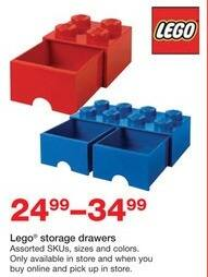 Staples Black Friday: LEGO Storage Drawers for $24.99 - $34.99