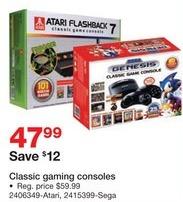 Staples Black Friday: Classic Atari or Sega Genesis Game Consoles for $47.99