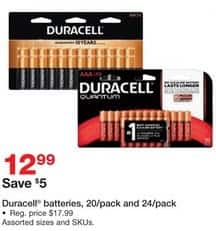 Staples Black Friday: Duracell 20 or 24-Pack Batteries for $12.99