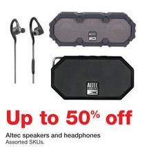 Staples Black Friday: Altec Speakers or Headphones - 50% Off