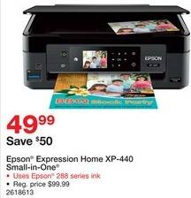 Staples Black Friday: Epson Expression Home XP-440 Small-in-One Printer for $49.99