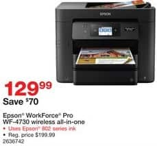 Staples Black Friday: Epson WorkForce Pro WF-4730 All-in-One Printer for $129.99