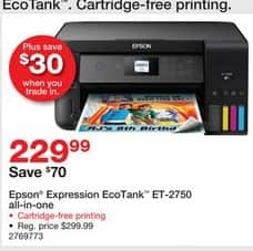 Staples Black Friday: Epson Expression ET-2750 EcoTank All-in-One