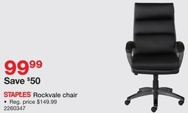 Staples Black Friday: Staples Rockvale Chair for $99.99