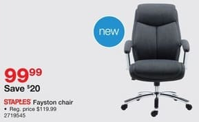 Staples Black Friday: Staples Fayston Chair for $99.99