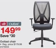 Staples Black Friday: Outlast Chair for $149.99