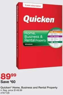 Staples Black Friday: Quicken Home, Business and Rental Property for $89.99