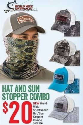 Bass Pro Shops Black Friday: World Wide Sportsman Hat and Sun Stopper Combo for $20.00