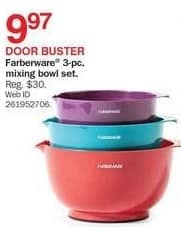 Bon-Ton Black Friday: Farberware 3-pc. MIxing Bowl Set for $9.97