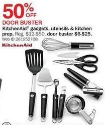 Bon-Ton Black Friday: KitchenAid Gadgets, Utensils and Kitchen Preparation Items for $6.00 - $25.00
