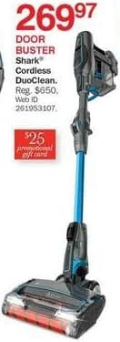 Bon-Ton Black Friday: Shark Cordless DuoClean + $25 Promo Gift Card for $269.97