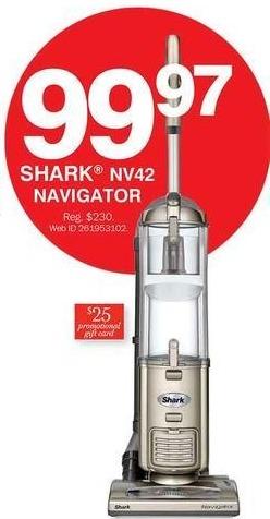 Bon-Ton Black Friday: Shark NV42 Navigator + $25 Promo Gift Card for $99.97
