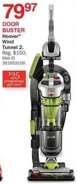 Bon-Ton Black Friday: Hoover Wind Tunnel 2 + $25 Promo Gift Card for $79.97