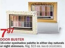 Bon-Ton Black Friday: Day Naturals or Night Shimmers 16-Color Eyeshadow Palette for $7.97