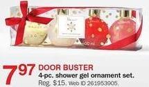 Bon-Ton Black Friday: Shower Gel Ornament 4-pc. Set for $7.97