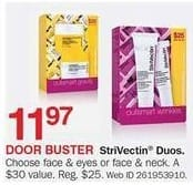 Bon-Ton Black Friday: StriVectin Face & Eyes or Face & Neck Duos for $11.97