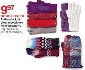 Bon-Ton Black Friday: Isotoner Ladies Clearance Gloves for $9.97